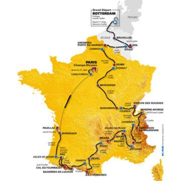 Маршрут  Тур де Франс 2010