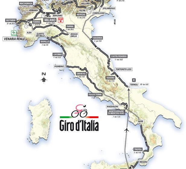 Giro D'Italia 2011 список этапов