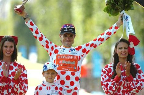 Самуэль Санчес (Euskaltel-Euskadi) выиграл гороховую майку на Тур де Франс 2011