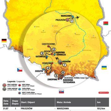 Тур Польши 2011  список этапов