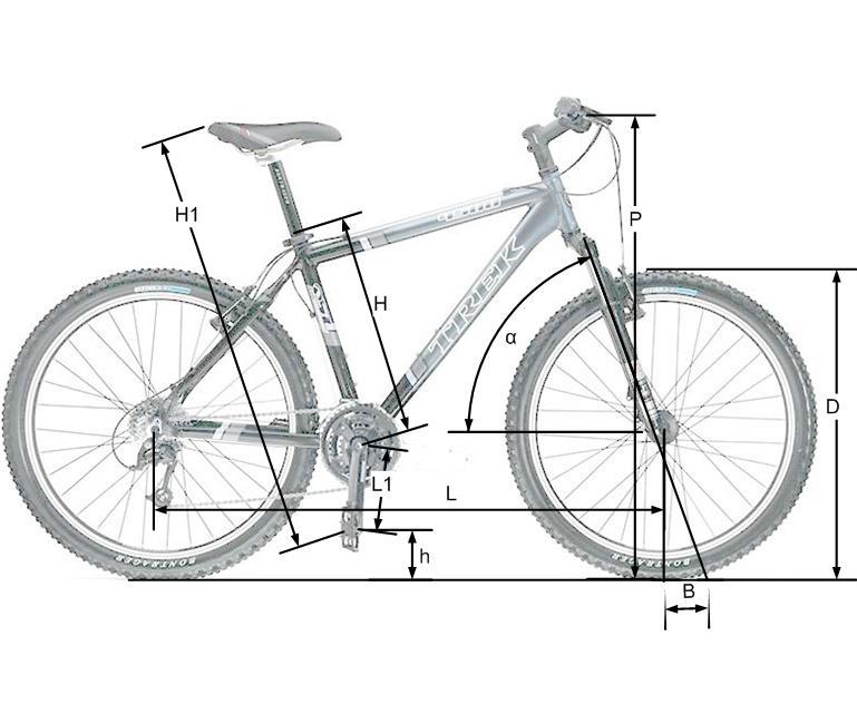 Размер рамы велосипеда на картинке сразу