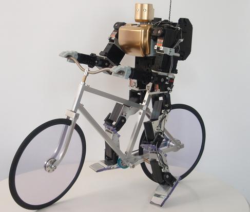 Японский робот велосипедист