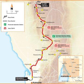 Тур Даун Андер/Santos Tour Down Under 2012 Маршрут и профиль этапов