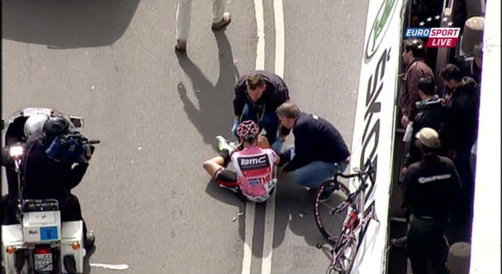 Тейлор Финни упал на 3 этапе Джиро д'Италия/Giro d'Italia 2012