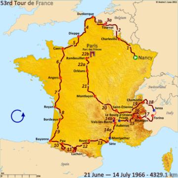 История Тур де Франс/Tour de France 1966