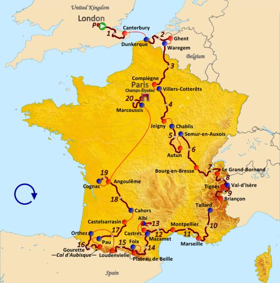 История Тур де Франс/Tour de France 2007