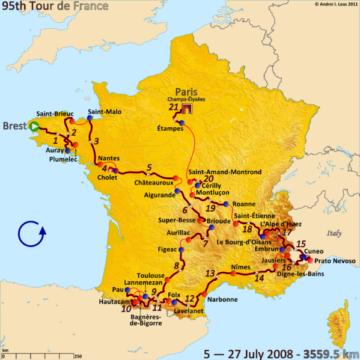 История Тур де Франс/Tour de France 2008