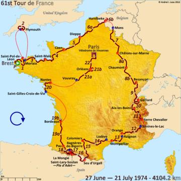 История Тур де Франс/Tour de France 1974