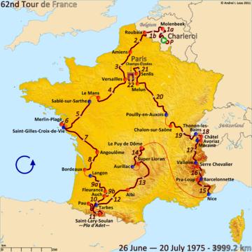 История Тур де Франс/Tour de France 1975