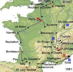 История Тур де Франс/Tour de France 1981