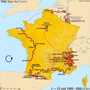 История Тур де Франс/Tour de France 1989