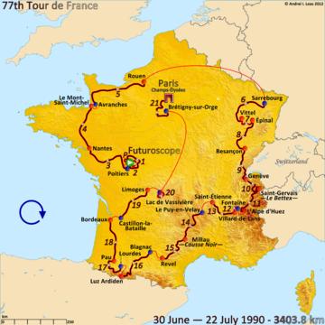 История Тур де Франс/Tour de France 1990