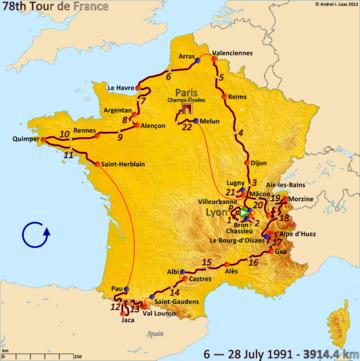 История Тур де Франс/Tour de France 1991