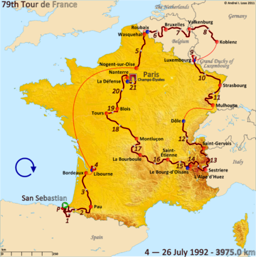 История Тур де Франс/Tour de France 1992