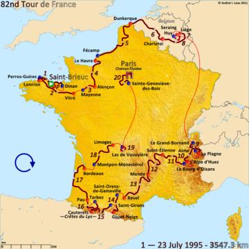 История Тур де Франс/Tour de France 1995