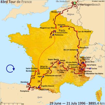 История Тур де Франс/Tour de France 1996