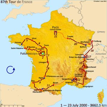 История Тур де Франс/Tour de France 2000