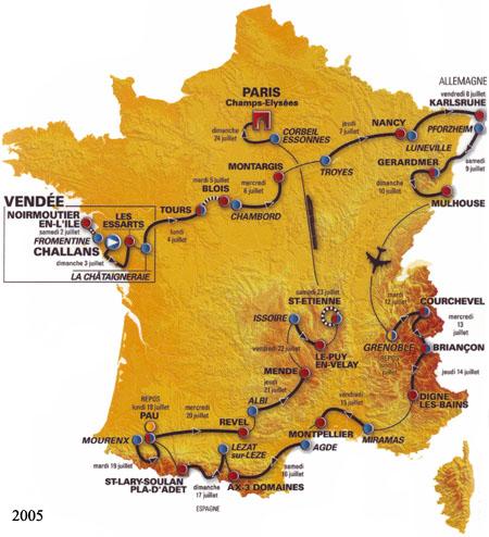 История Тур де Франс/Tour de France 2005