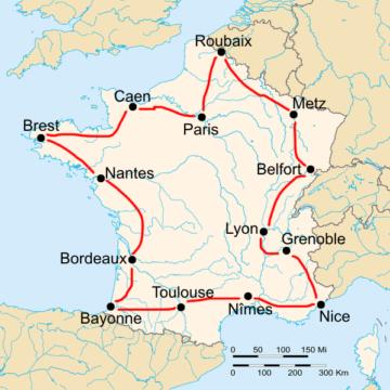 История Тур де Франс/Tour de France 1908