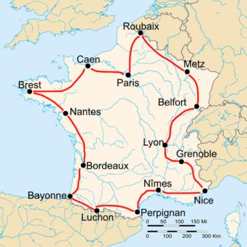 История Тур де Франс/Tour de France 1910