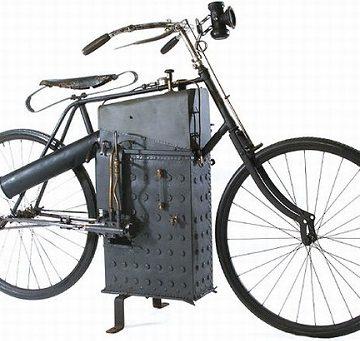 Велосипед на паровом двигателе
