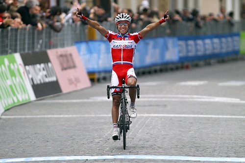Дебютная победа Катюши на этапе гонки World Tour