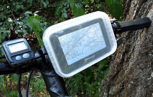 Бокс-крепление для навигатора на велосипед своими руками