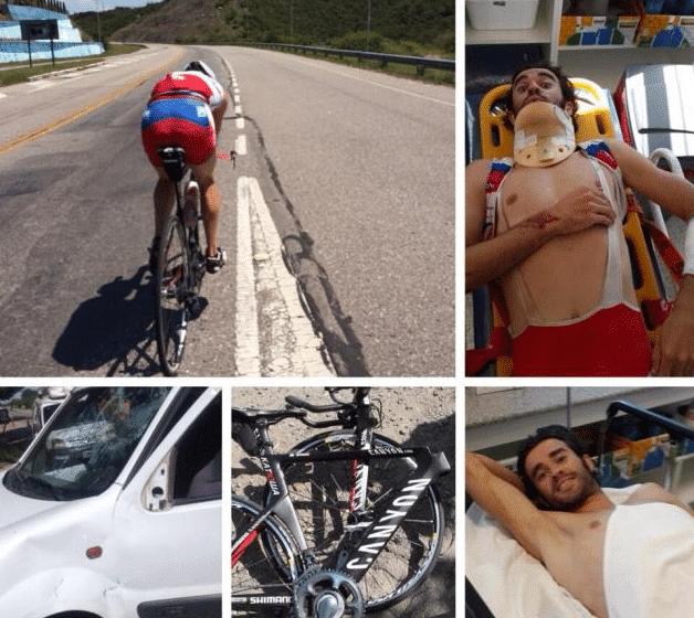 Даниэля Морено на тренировке сбил автомобиль