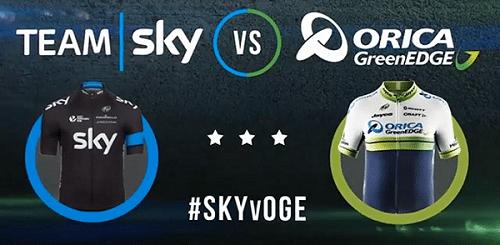 Team Sky vs Orica GreenEdge (камень, ножницы, бумага)