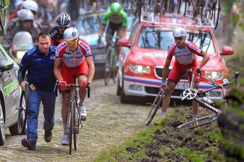 Неудачная гонка Париж-Рубе 2014 для команды Катюша