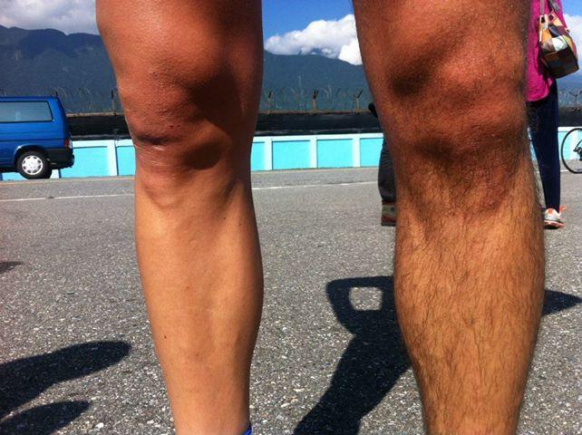 бритые ноги велогонщиков