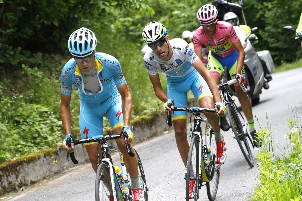 Микель Ланда, Фабио Ару и Альберто Контадор на Джиро д'Италия 2015