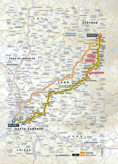 Маршрут 13 этапа Тур де Франс 2015