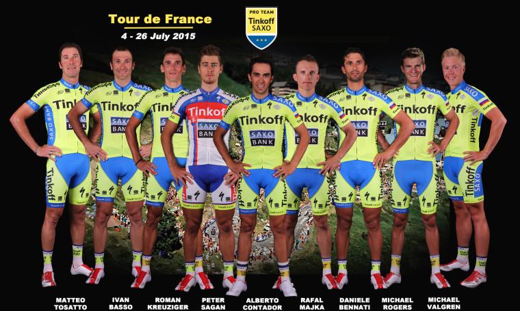 Состав Tinkoff-Saxo на Тур де Франс 2015