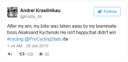Твиттер велогонщика