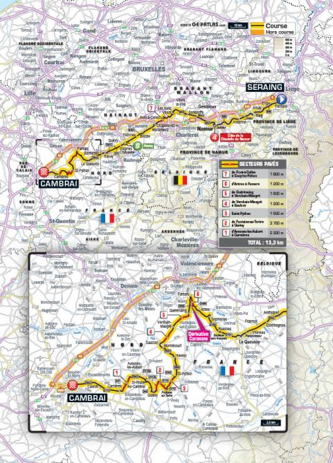 Карта 4 этапа Тур де Франс 2015