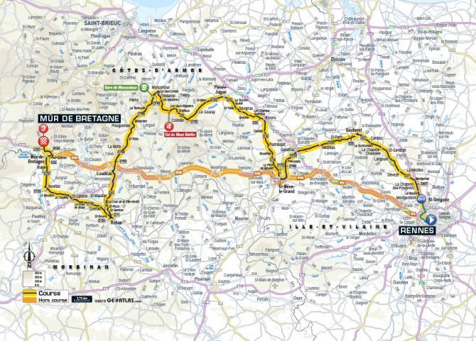 Маршрут 8 этапа Тур де Франс 2015
