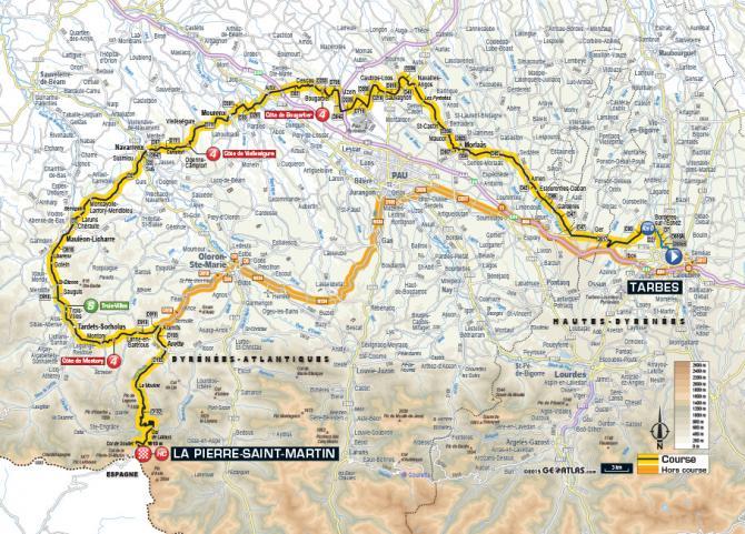 Маршрут 10 этапа Тур де Франс 2015