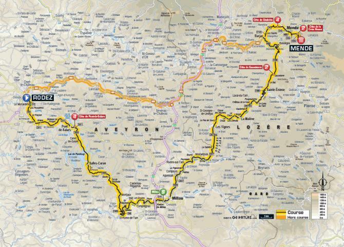 Маршрут 14 этапа Тур де Франс 2015