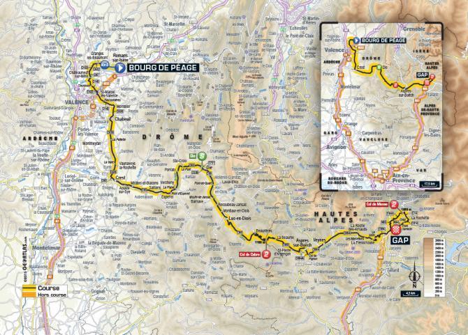 Маршрут 16 этапа Тур де Франс 2015