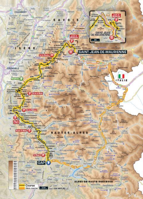 Маршрут 18 этапа Тур де Франс 2015