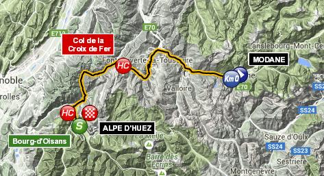 Маршрут 20 этапа Тур де Франс 2015