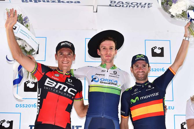 Adam Yates (Orica-GreenEdge), Philippe Gilbert (BMC), Alejandro Valverde (Movistar)
