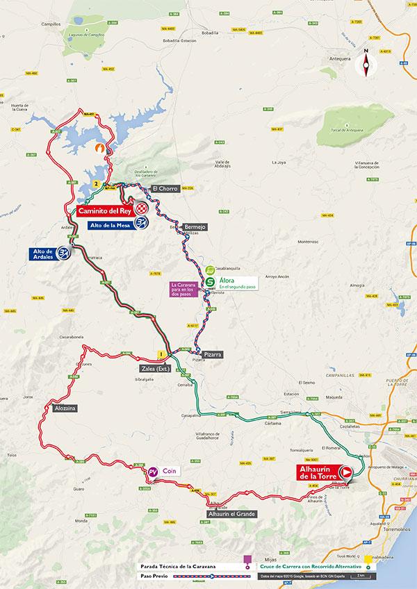 Маршрут 2 этапа Вуэльты Испании 2015