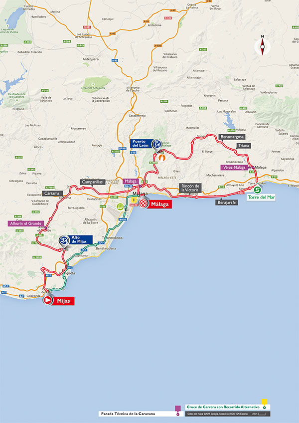 Маршрут 3 этапа Вуэльты Испании 2015