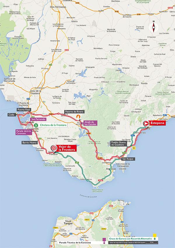 Маршрут 4 этапа Вуэльты Испании 2015
