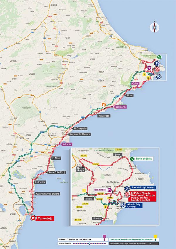 Маршрут 9 этапа Вуэльты Испании 2015