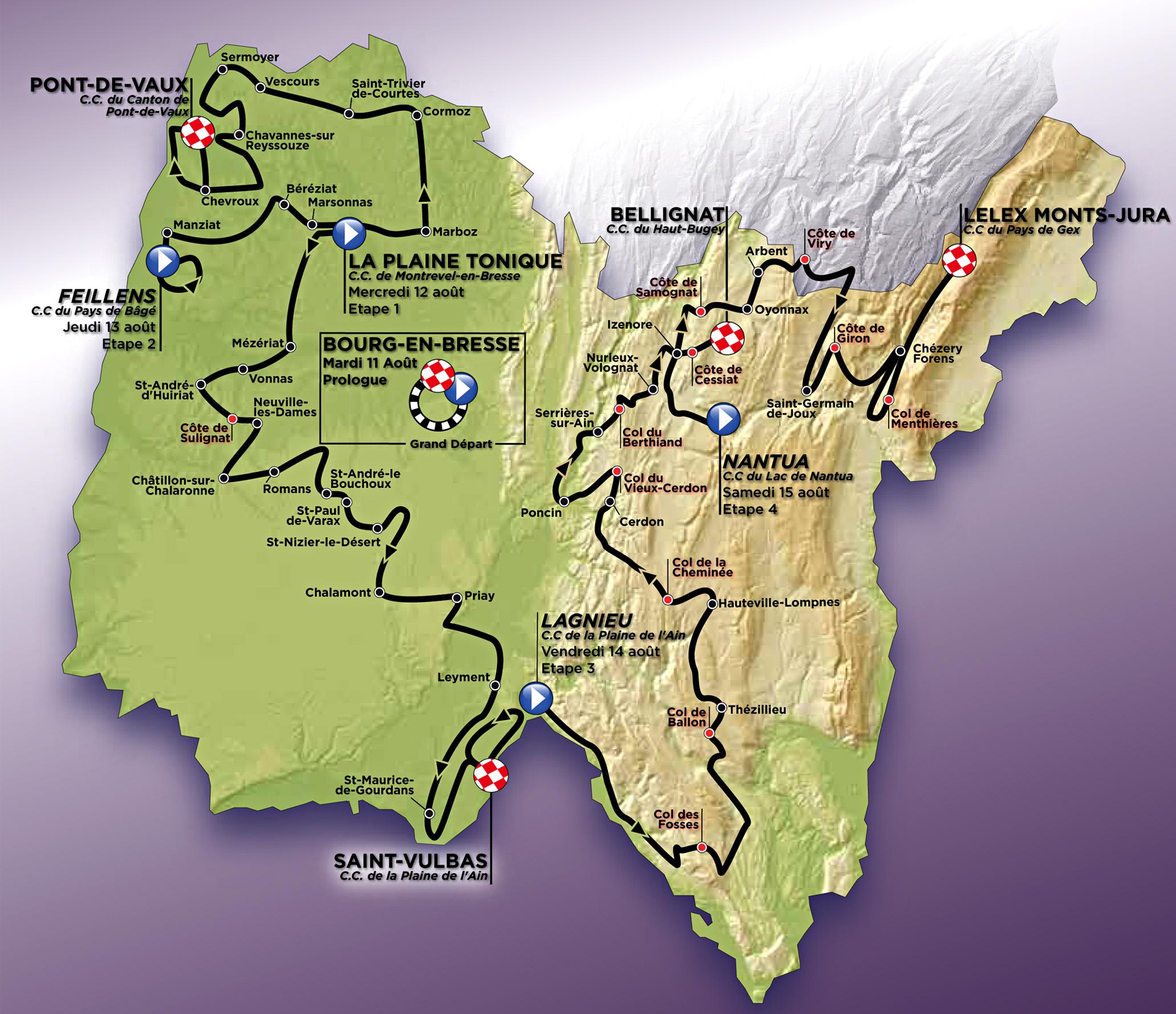Маршрут многодневной велогонки - Тур де Лан 2015
