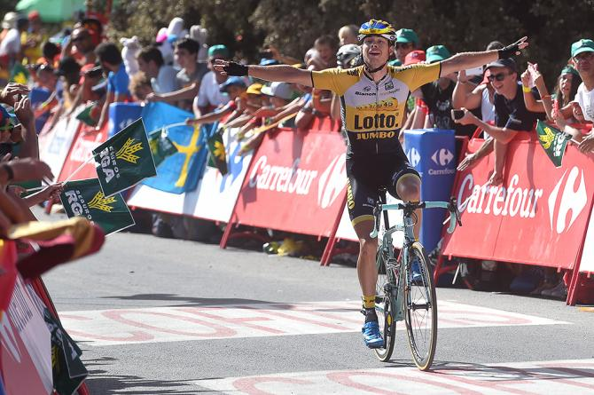 bert-Jan Lindeman wins stage 7 of the 2015 Vuelta a Espana