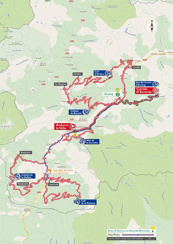 Маршрут 11 этапа Вуэльты Испании 2015